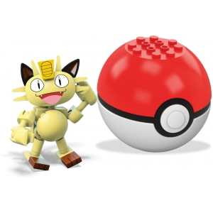 Mega Construx Meowth Pokemon Figure