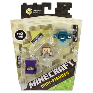 Minecraft Mini Figure - Shulker Steve with Shield Skullfire Wither