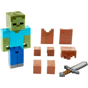 Minecraft Zombie In Armor Basic Figure