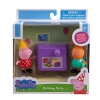 Zoofy International Peppa Pig - Peppa & Candy Cat Birthday Party Play Set